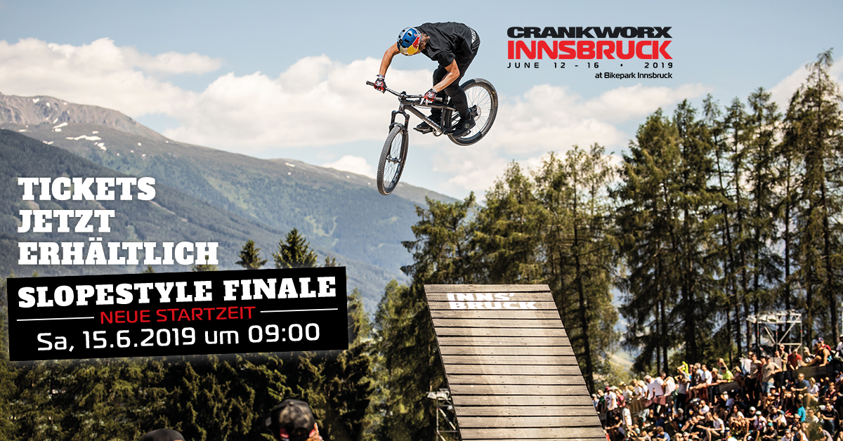 Changes to start time for Crankworx Innsbruck Slopestyle 2019