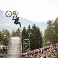 Brett Rheeder and Emil Johansson face of in epic and emotional battle for Slopestyle supremacy at Crankworx Innsbruck