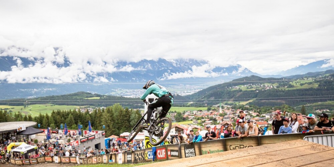 Brook MacDonald and Tracey Hannah take second Crankworx Downhill wins of 2019 in Austria